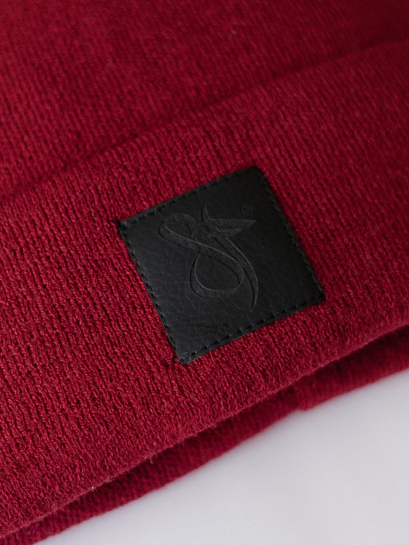 Black leather patch