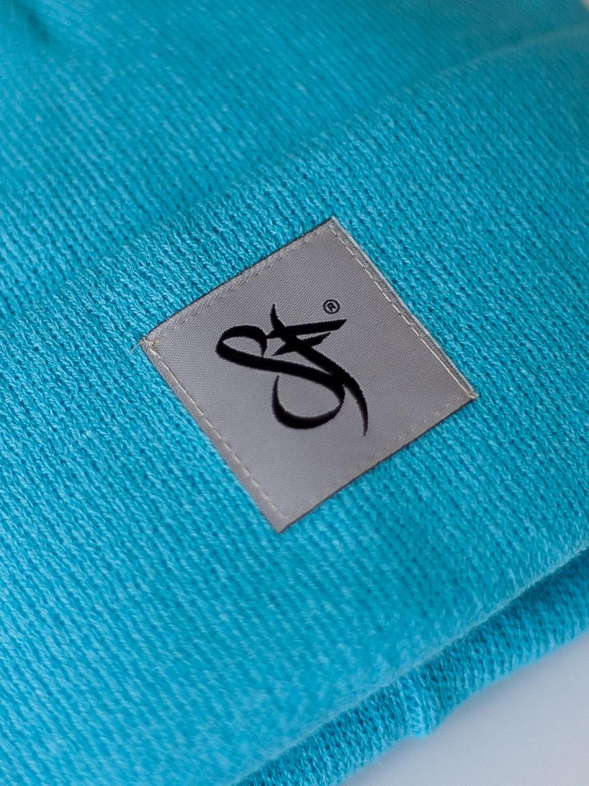 Standfor Tag Beanie Hat Blue