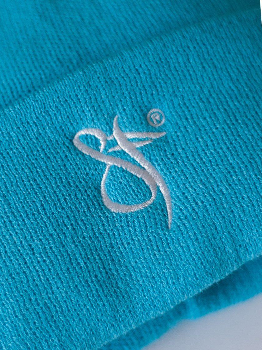 SF Embroidery Beanie Hat blue/white