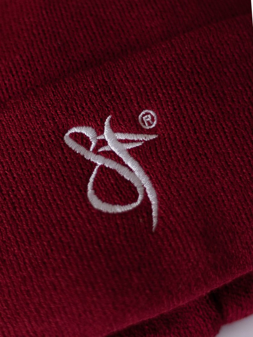SF Embroidery Beanie Hat red/white