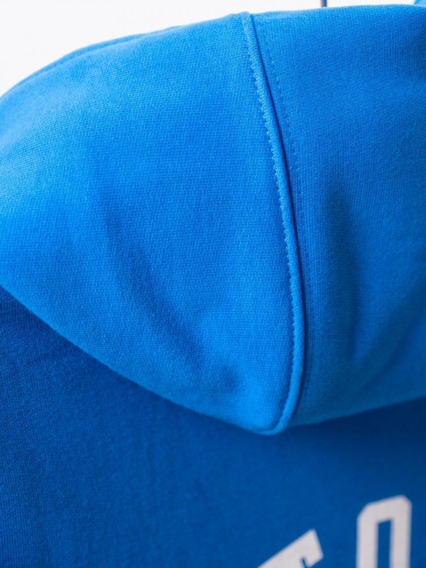 MMV Long Hoodie Dress OG Blue hood back detail