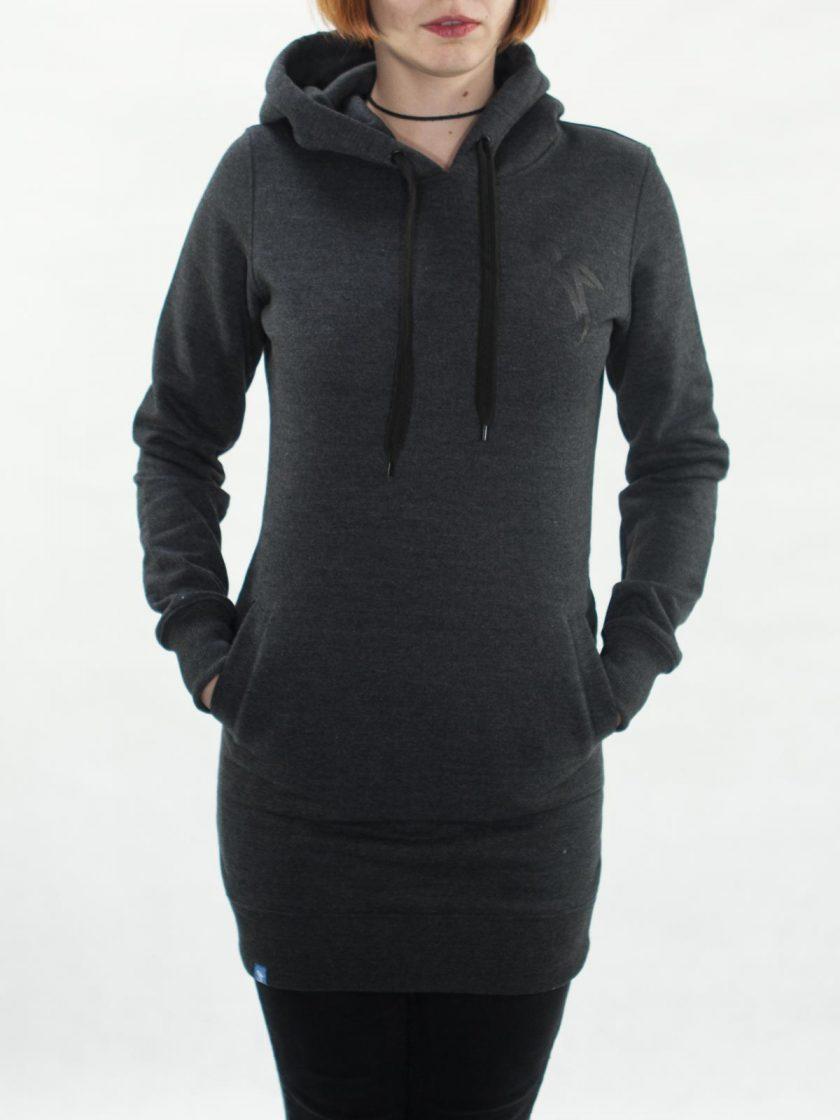 MMV Long Hoodie Dress Graphite
