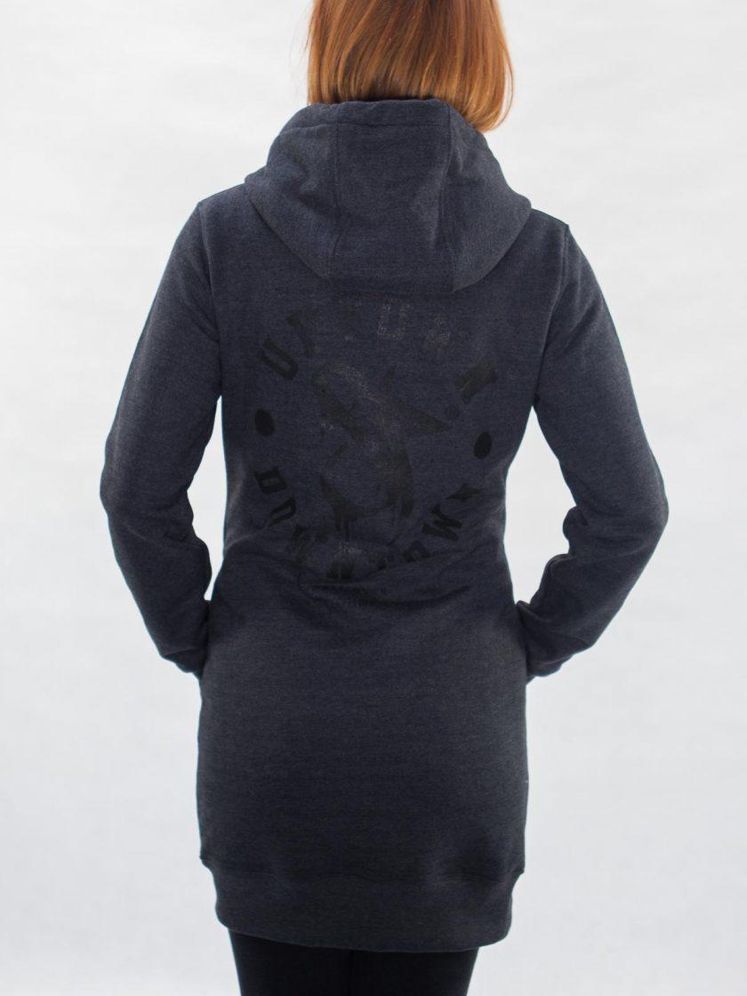 SF Long Hoodie Dress Graphite