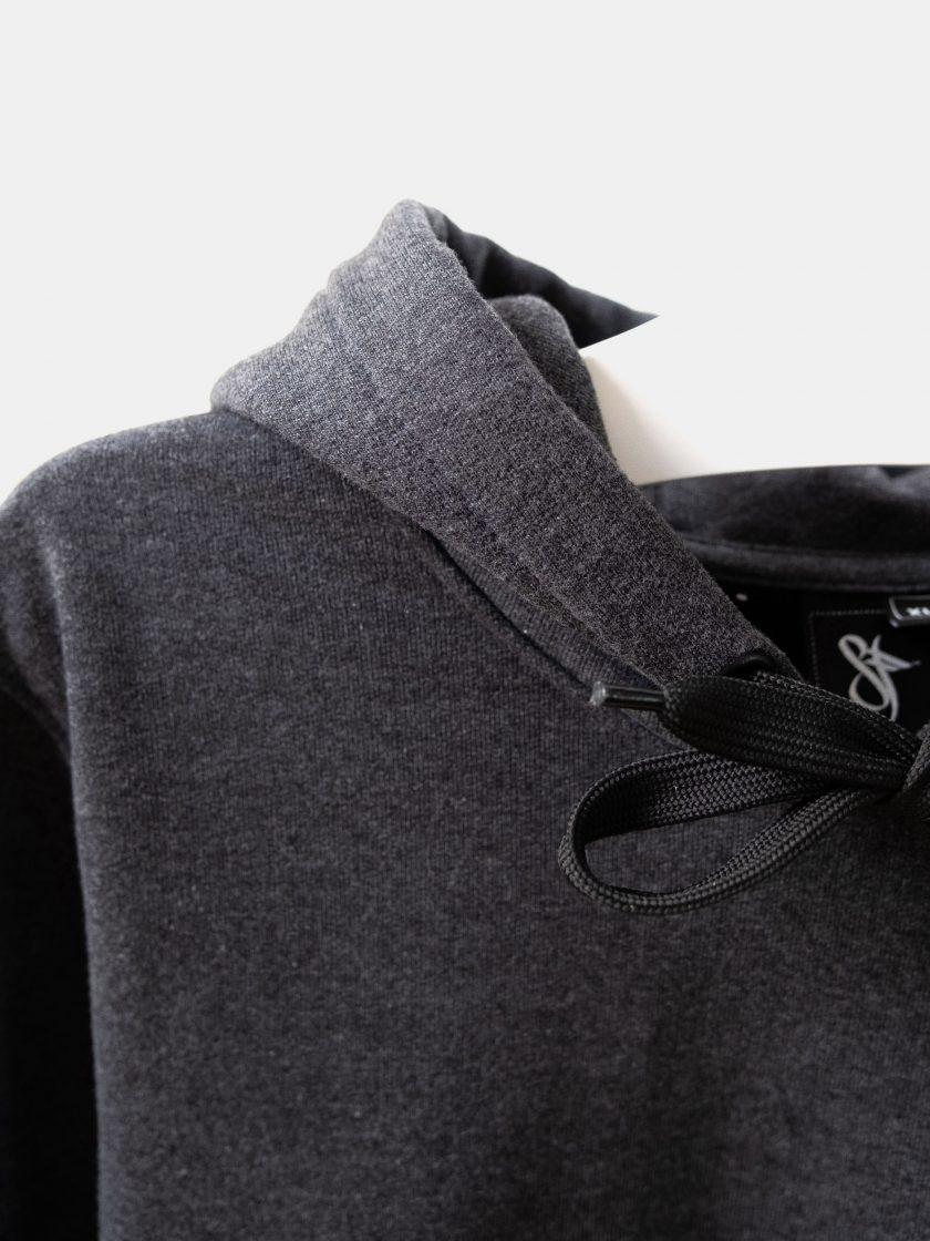 MMV Long Hoodie Dress Logo lace details Graphite