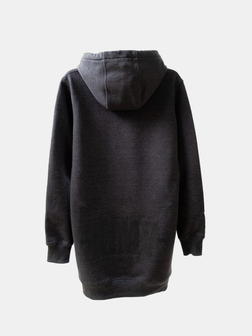MMV Long Hoodie Dress Back Graphite