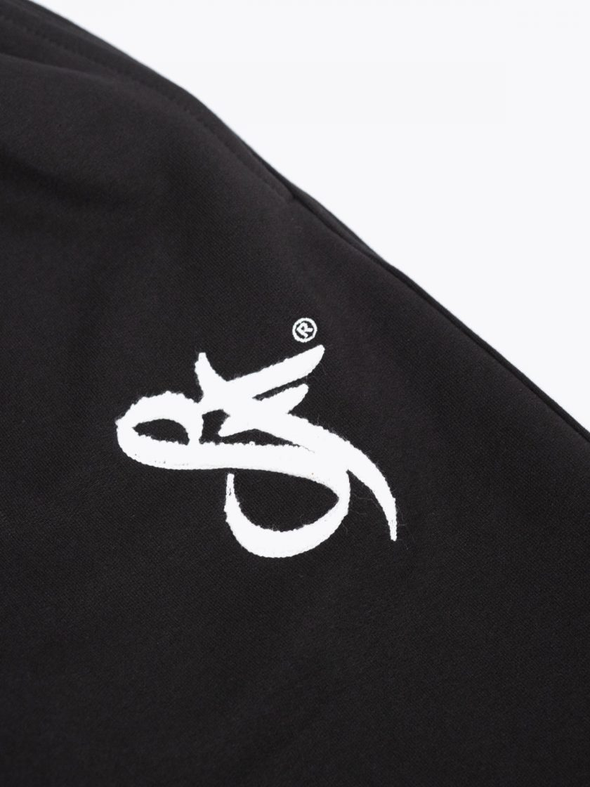 SF Classic Sweatpants Black-Embroidery Details