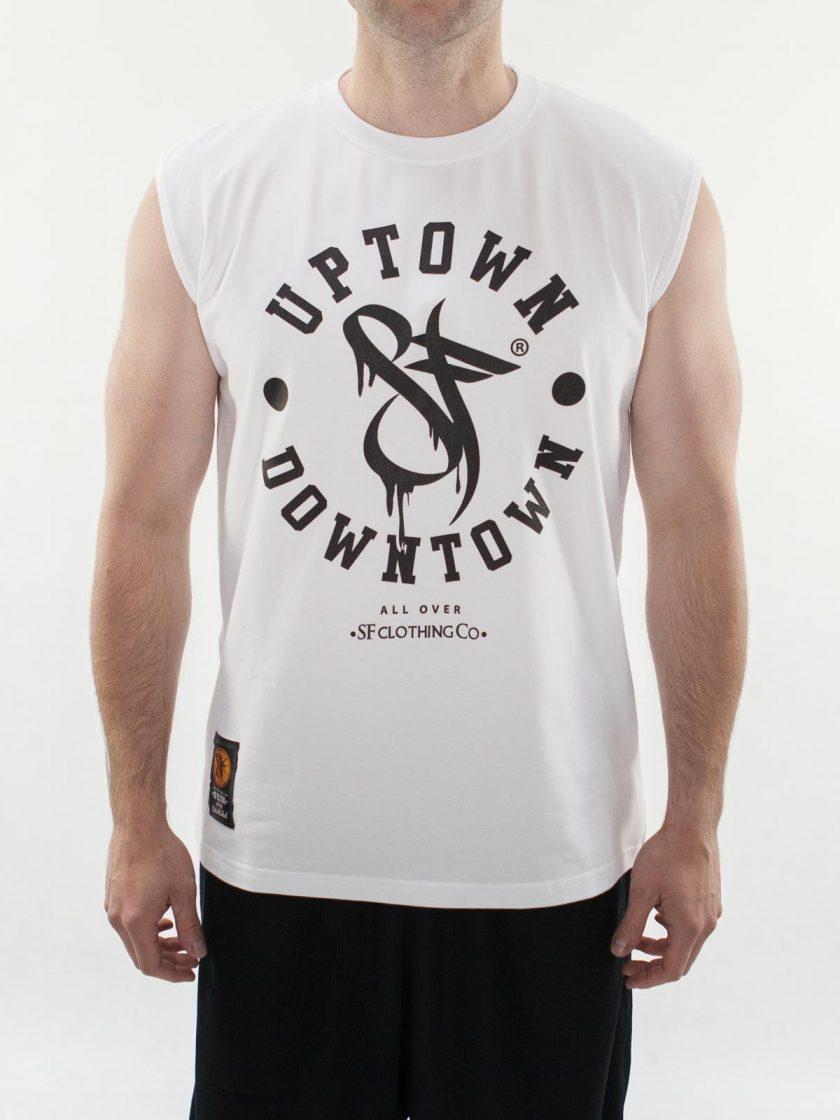 Uptown Downtown White Sleeveless