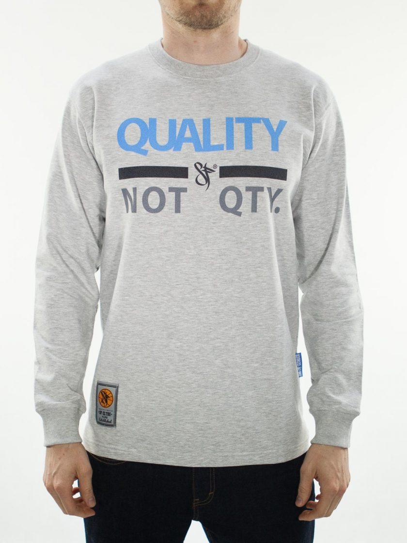 Quality Not Quantity Grey