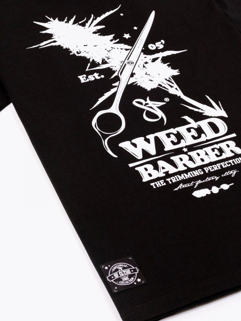 Standfor Weed Barber Tee Black Design detail