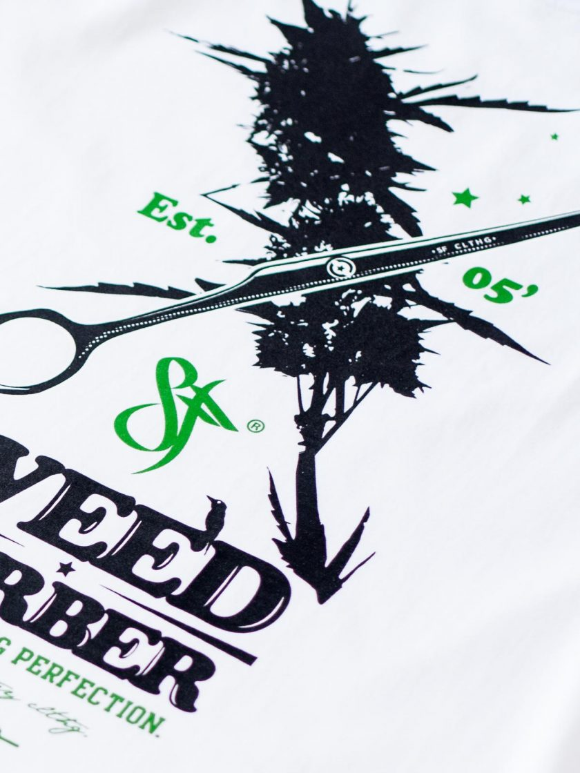 Weed Barber White