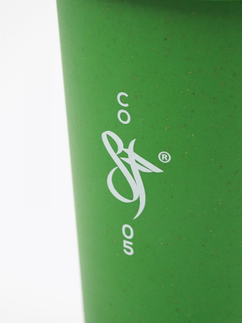 Bamboo Mug Green- Standfor Open Front detail