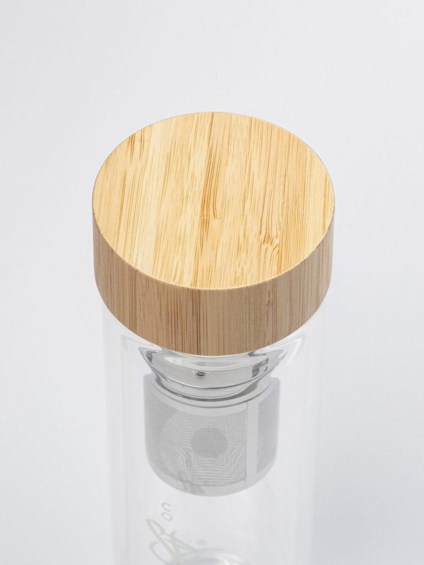 Infuser Bottle bamboo Lid Details