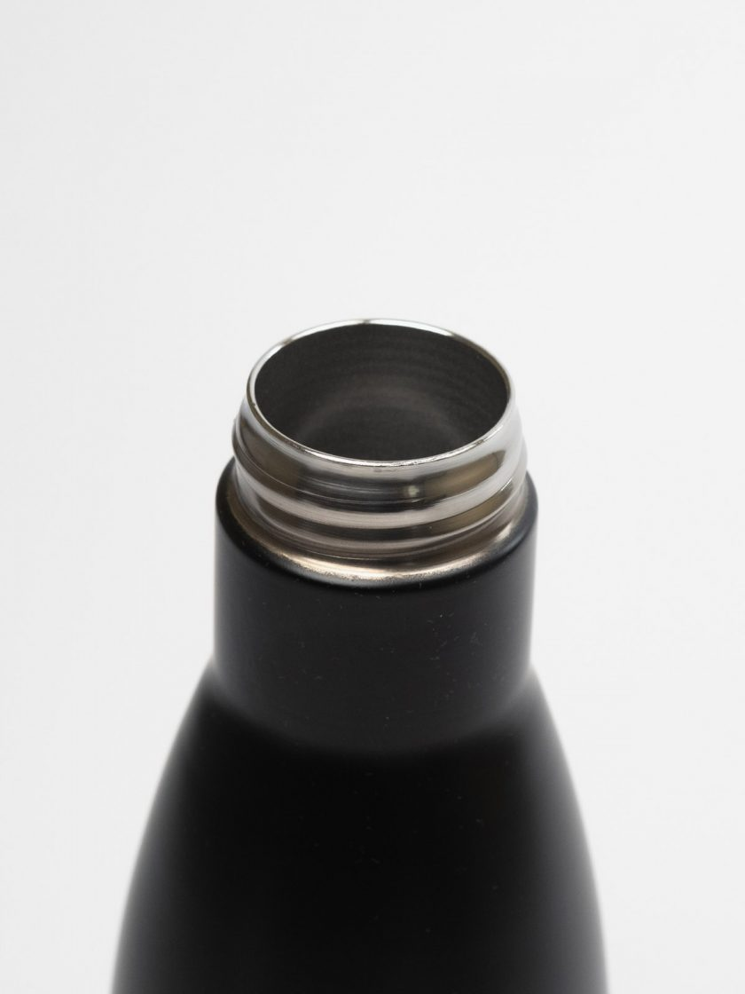 Standfor Classic Thermal Bottle Black-neck detail