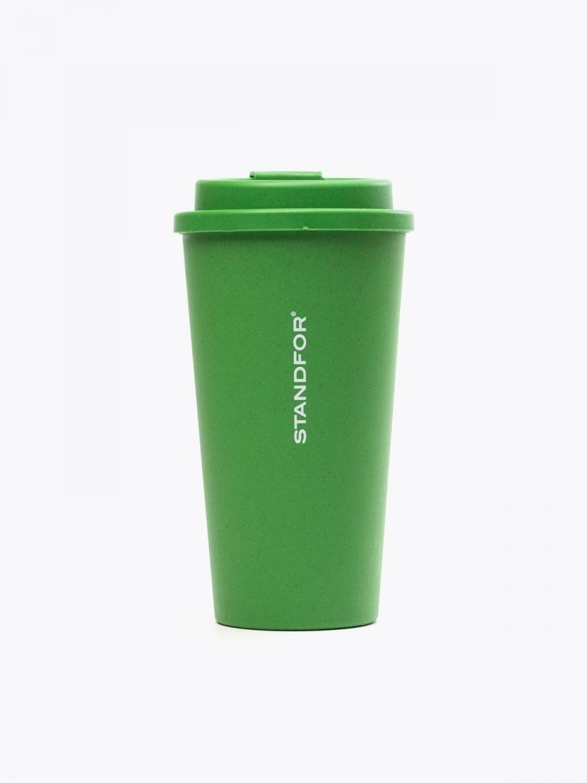 Bamboo Mug Green- Standfor detail
