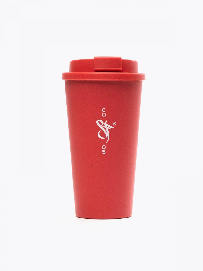 Bamboo Mug Red- Sf detail