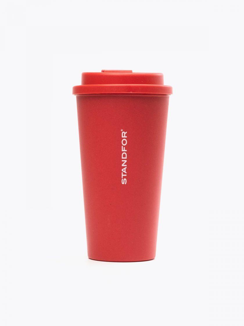 Bamboo Mug Red- Standfor detail