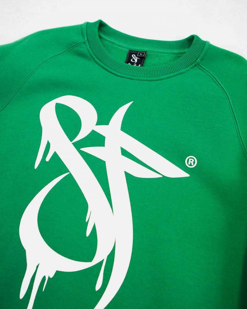 Standfor Drips Irish Green Sweatshirt - Logo Art Details