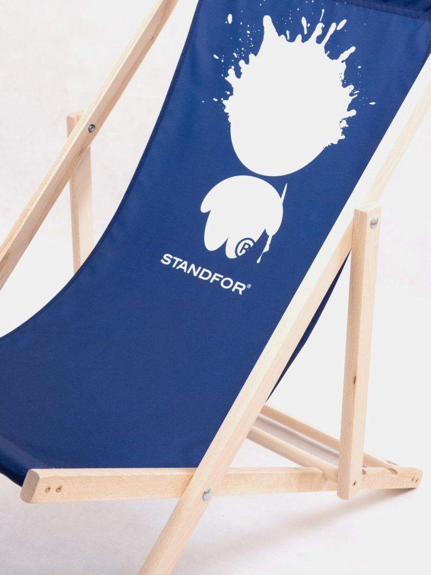 Garden Chair Mr Ink Navy Blue Seat Details