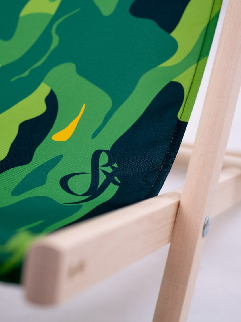 Wooden Chair Frame details-Original Jungle Camo Pattern