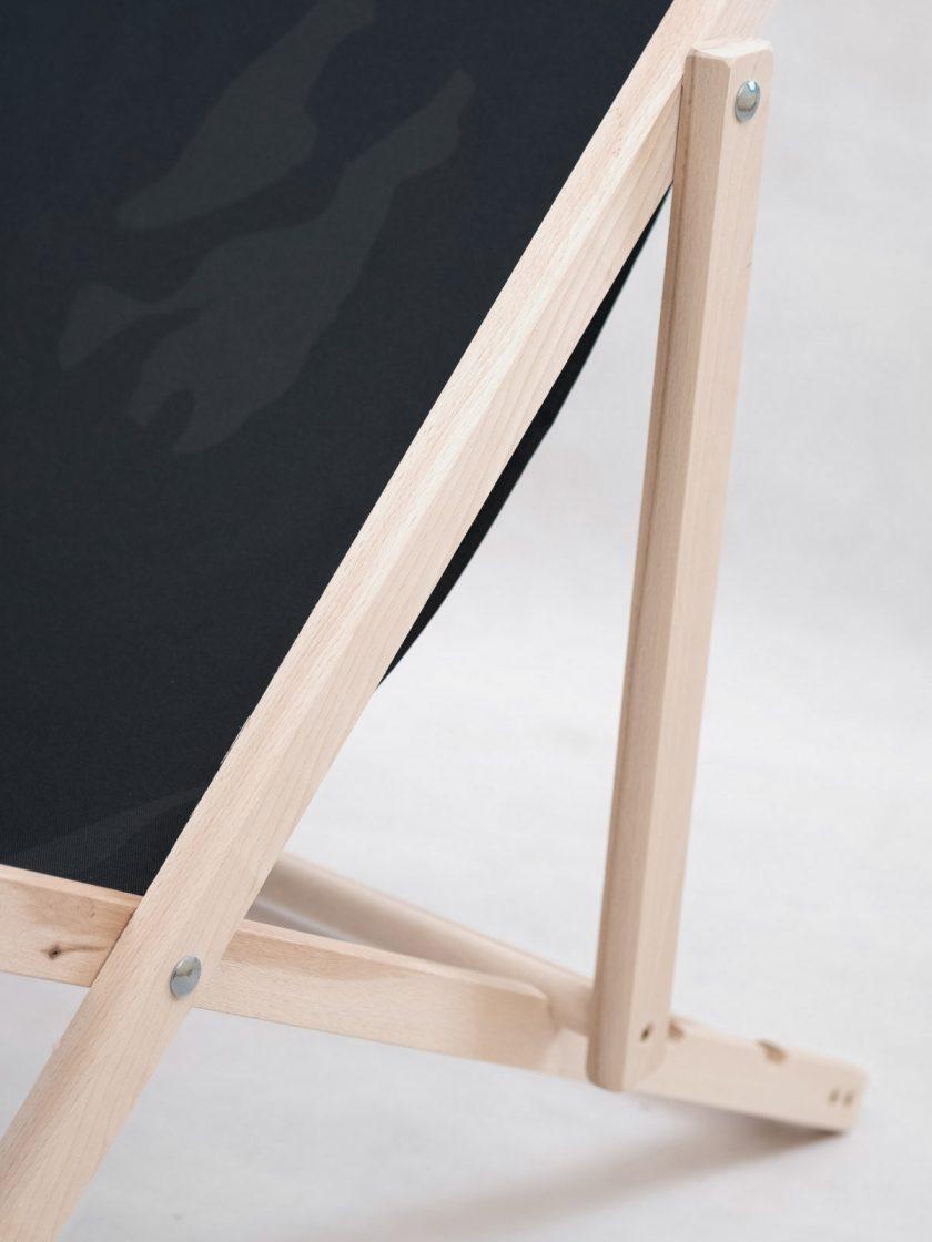 Wooden Garden Chair Design details-Black Platan Camo Pattern