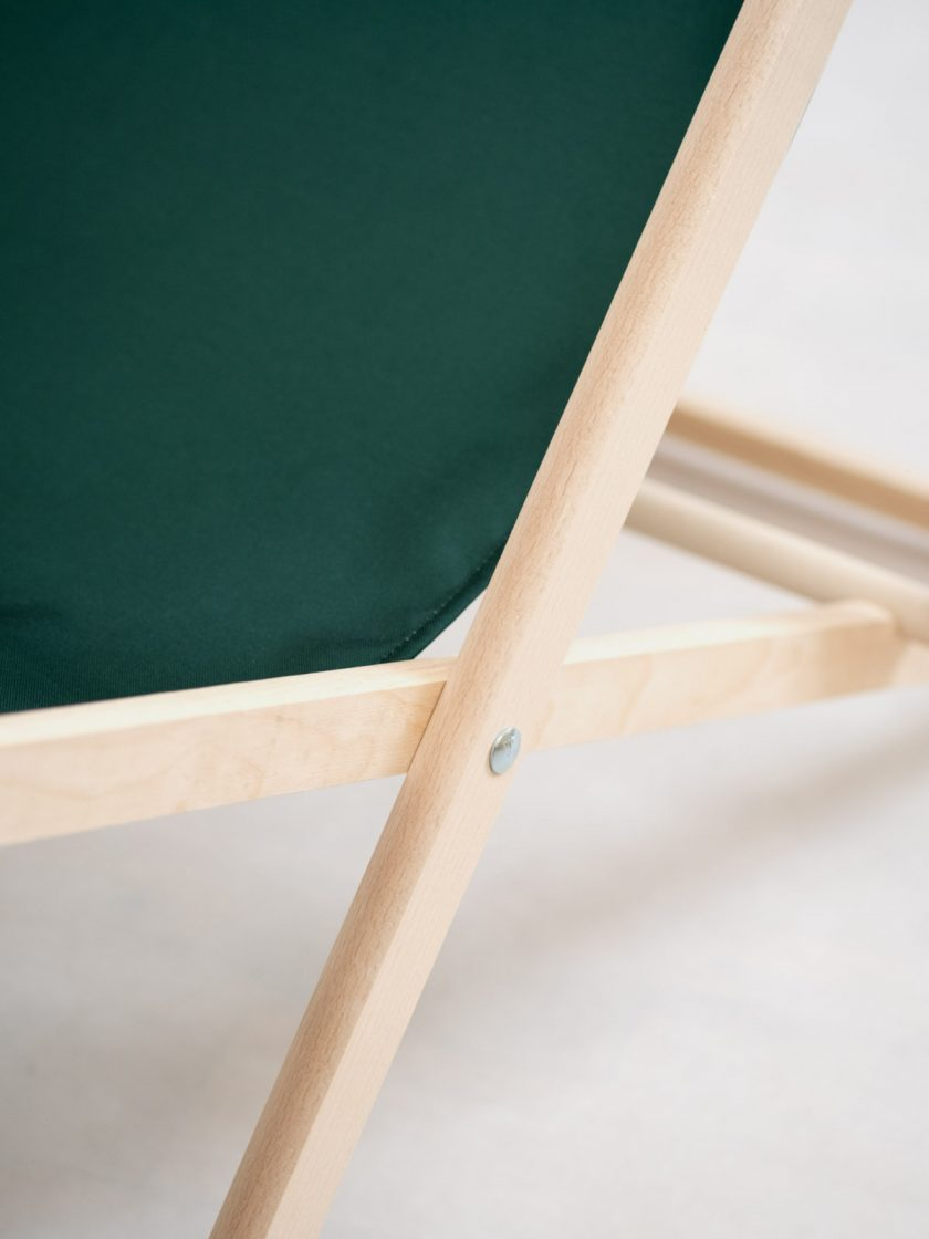 Garden Chair Mr Ink Irish Green Frame Detail