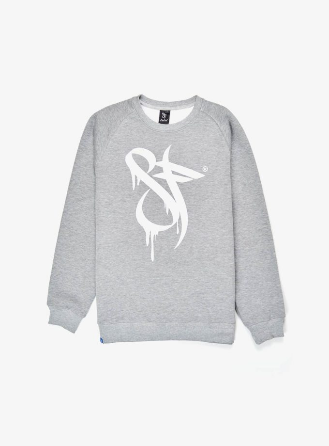 Standfor Drips Sweatshirt grey- logo design to the front