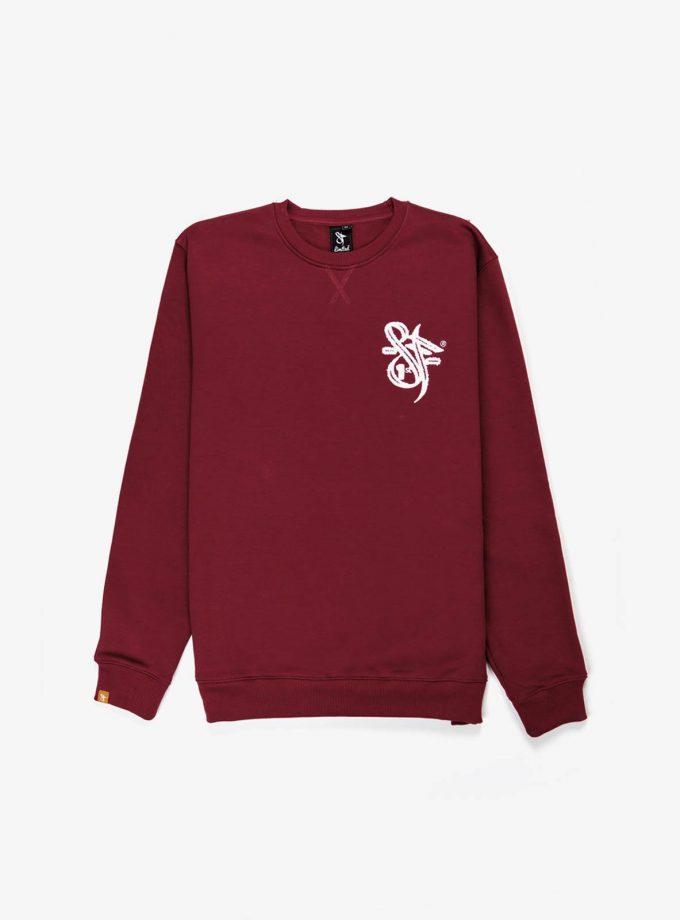 SF Brand Sweatshirt Burgundy, soft and tick Cotton