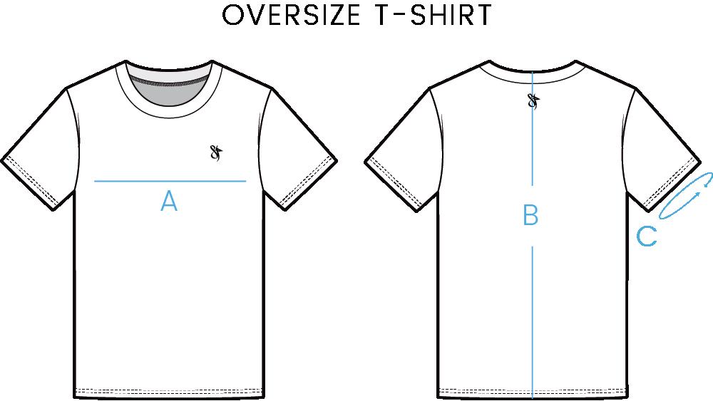oversize t shirt chart