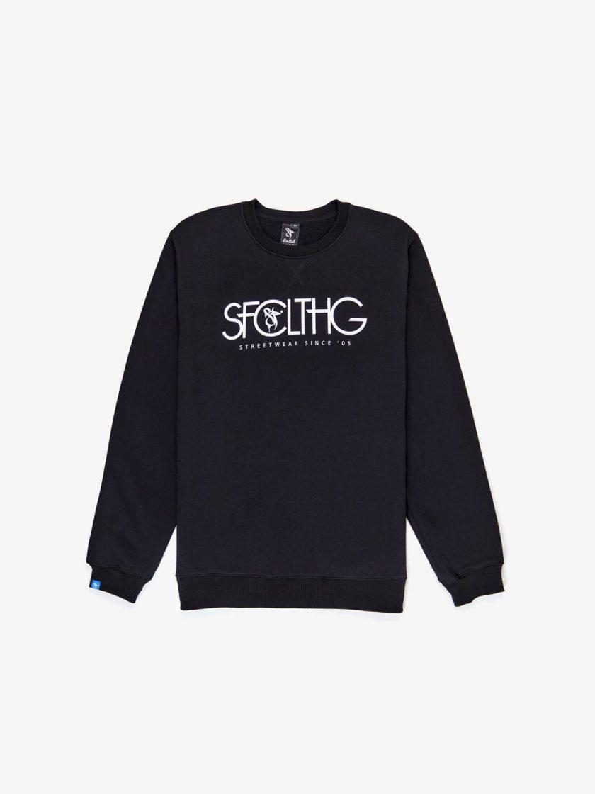 SFCLTHG Typography Sweatshirt Black