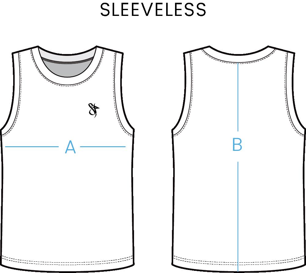 size chart sleeveless