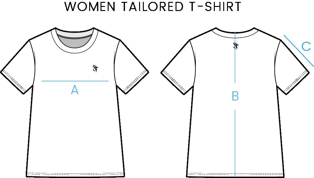 women t shirt size chart
