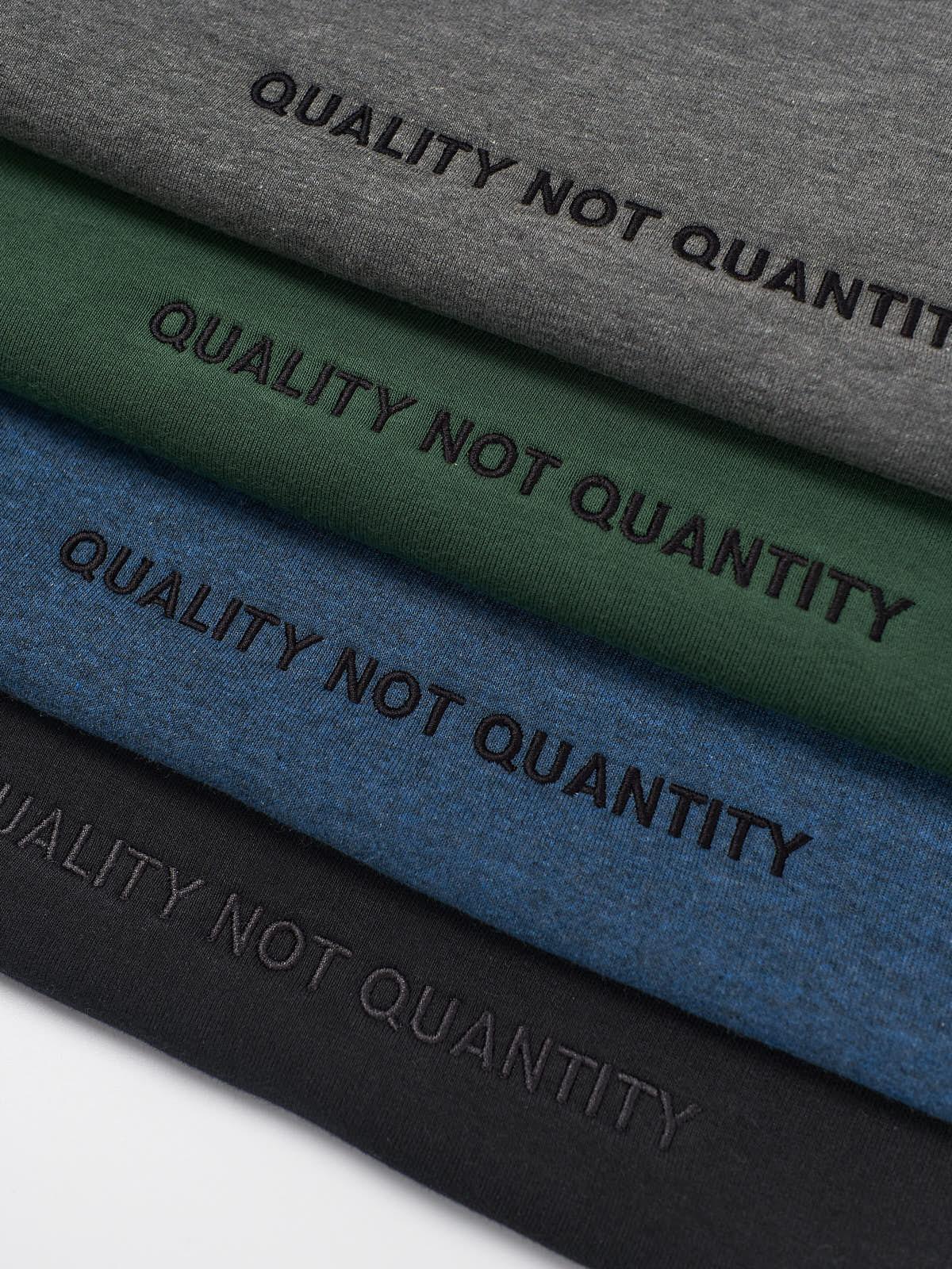 Quality not quantity sweatshirts folded