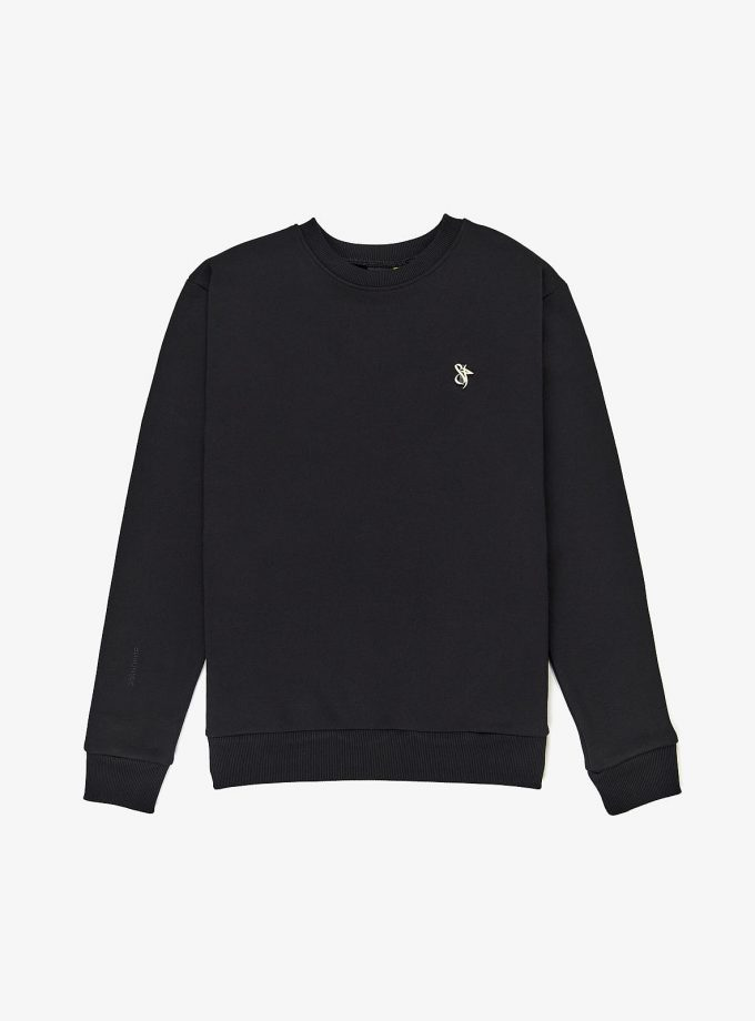 sf logo lux pin sweatshirt in color black. Also more colours available.