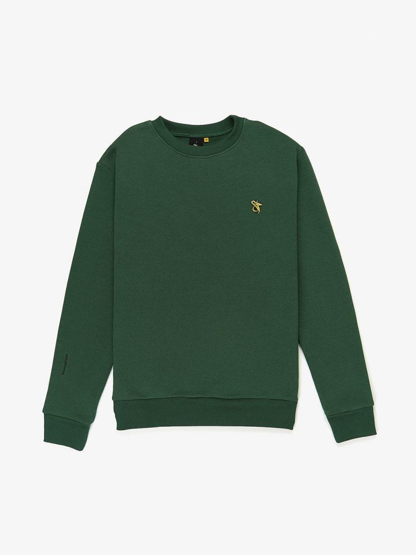 lux pin sweatshirt dusk green