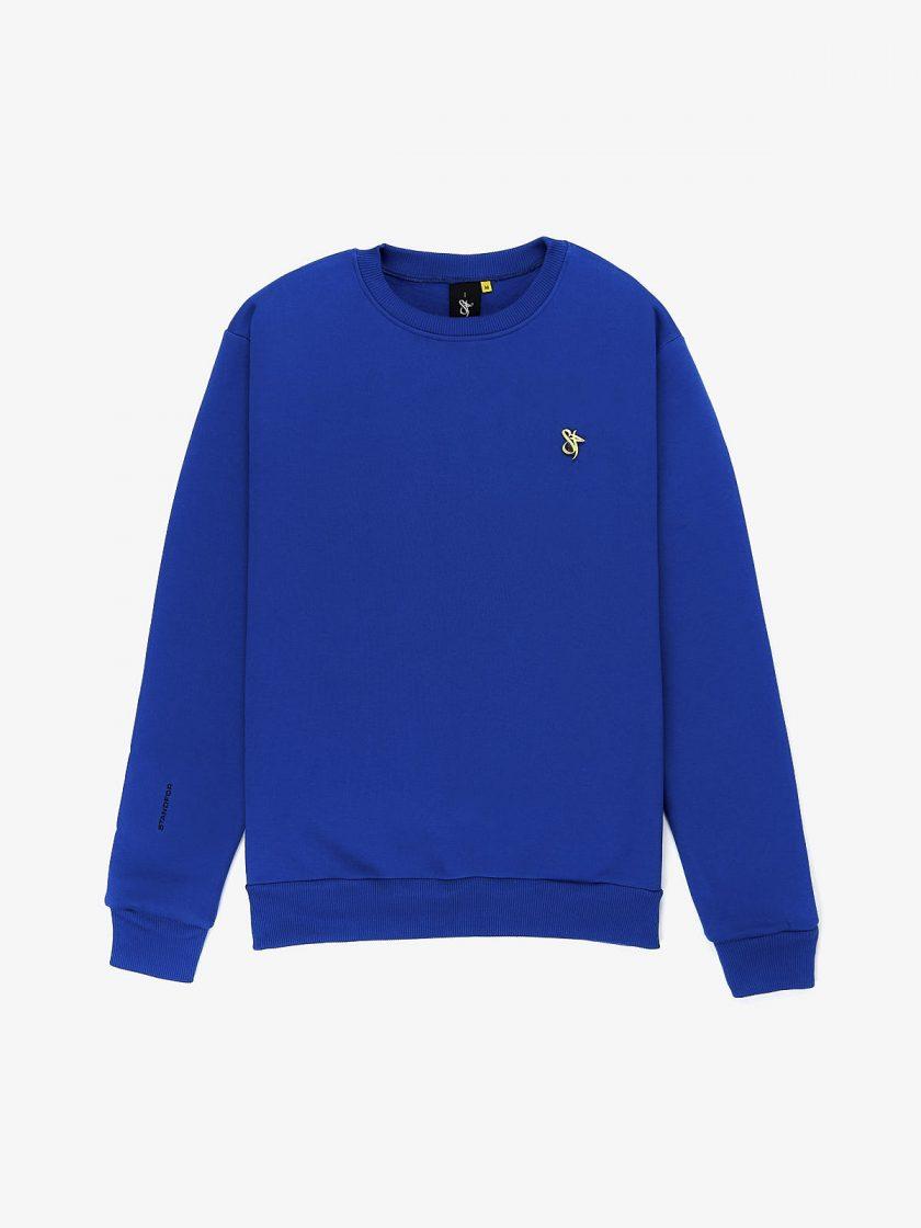 lux pin sweatshirt true blue