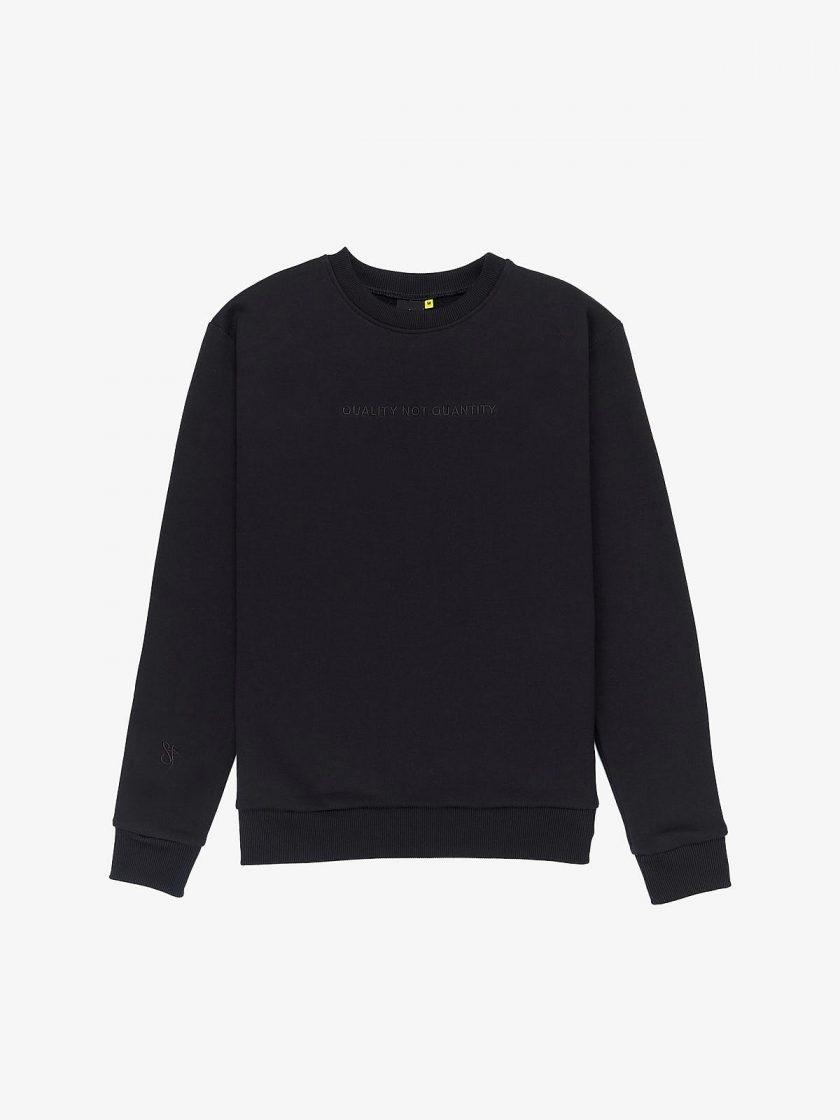 quality not quantity sweatshirt black