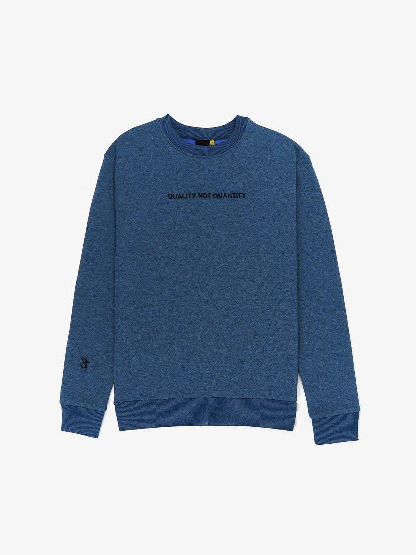 quality not quantity sweatshirt melange blue