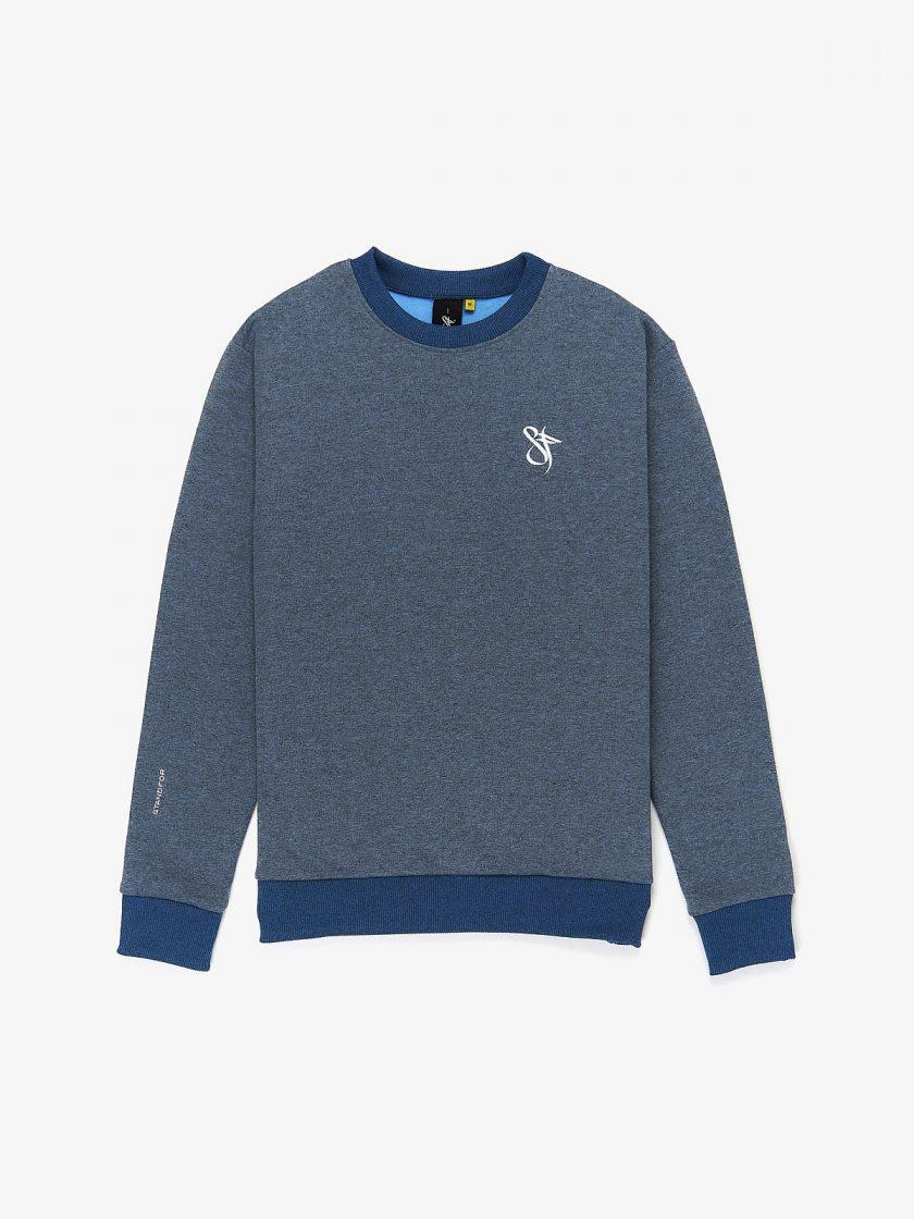 sf classics sweatshirt melange blue