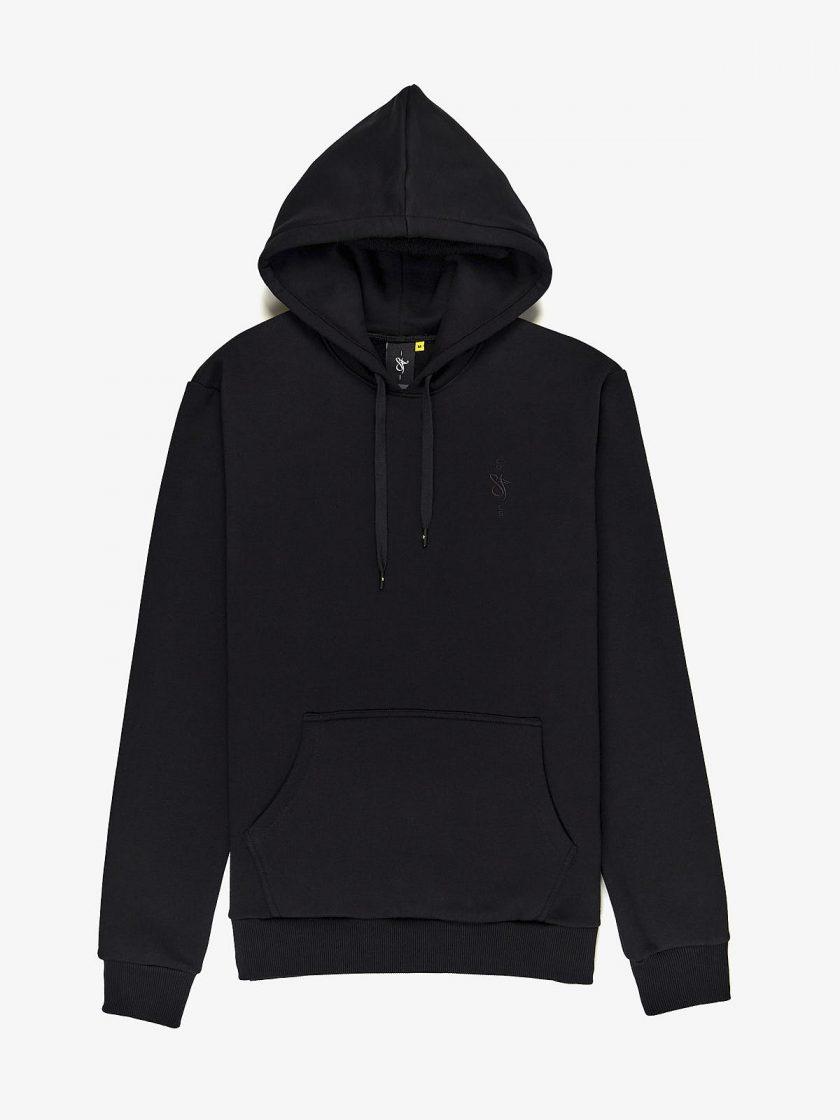 sf crew emblem hoodie black