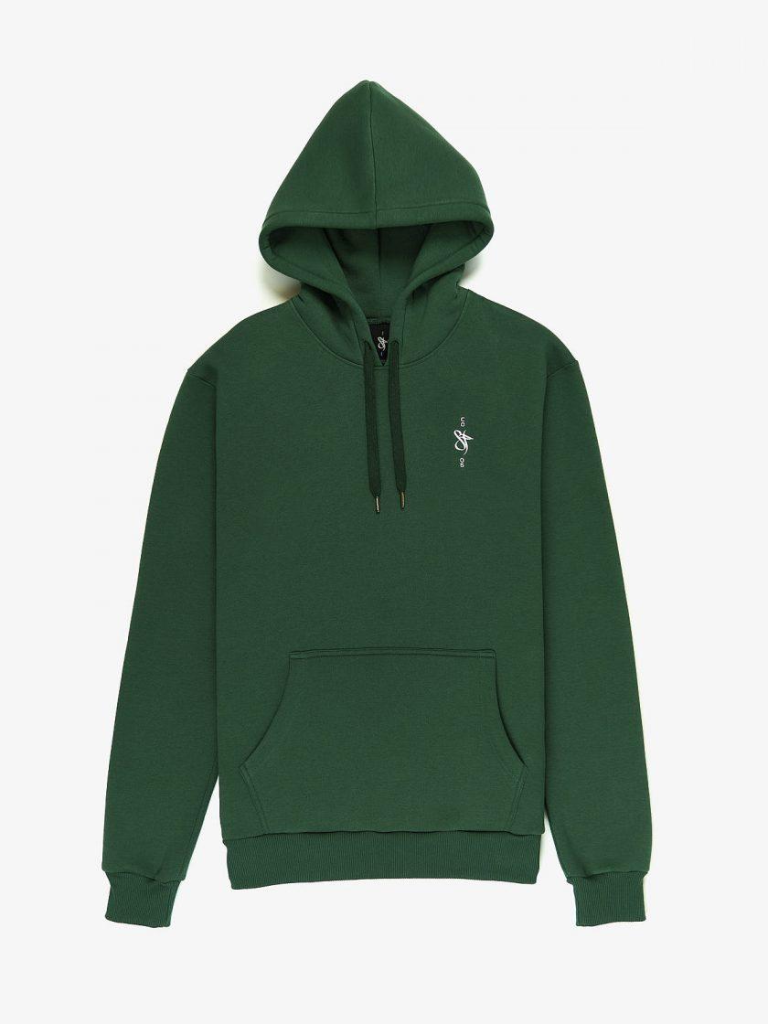 sf crew emblem hoodie green