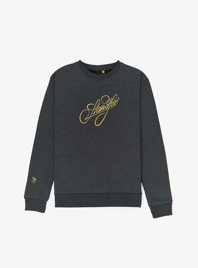 Standfor Signature Sweatshirt in color Graphite