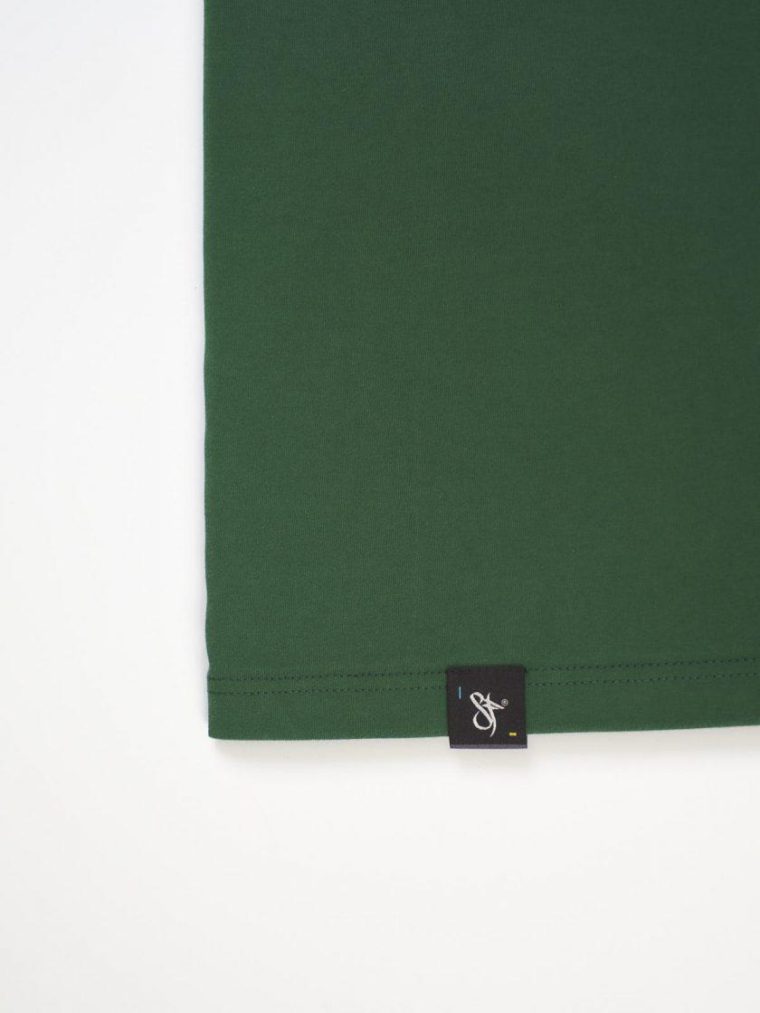 dusk green bottom tag tee