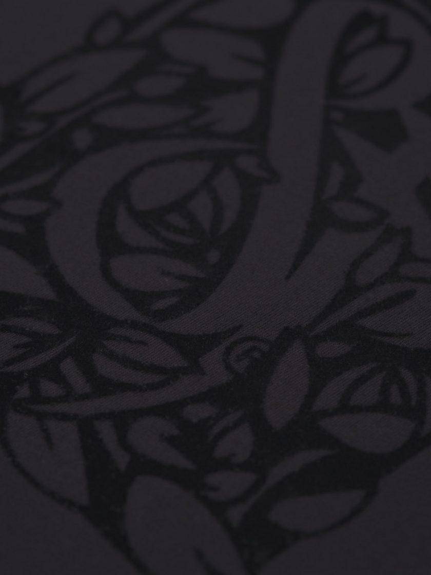 florian black tee flocking detail
