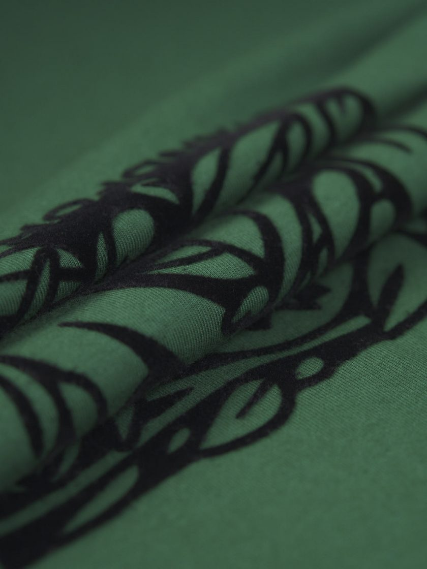 florian flocking tee fabric detail