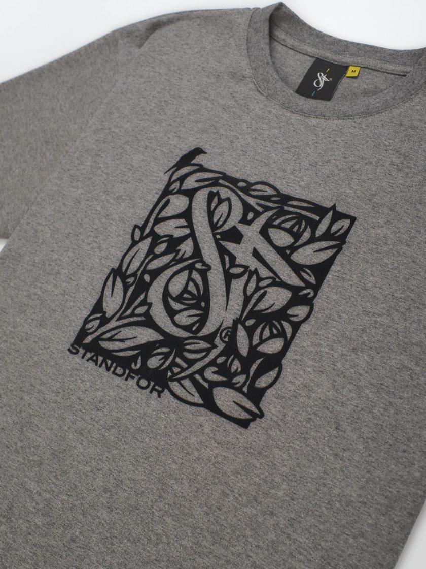 florian melange grey front detail