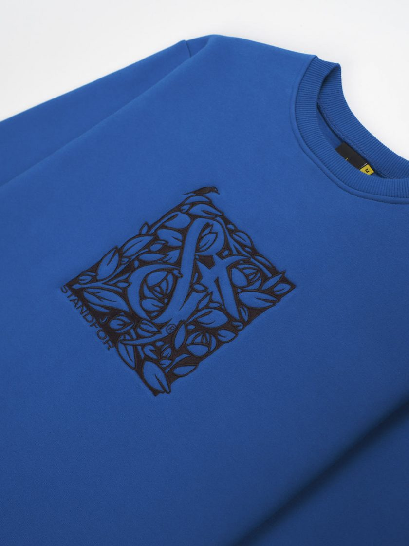 florian sweatshirt embroidery details