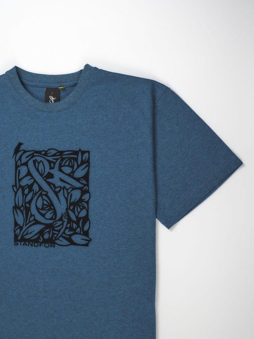 florian tee melange blue detail