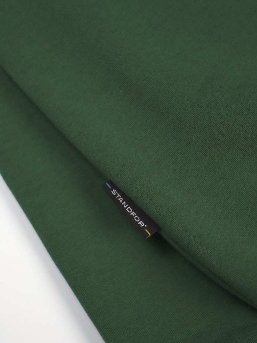 green fabric detail