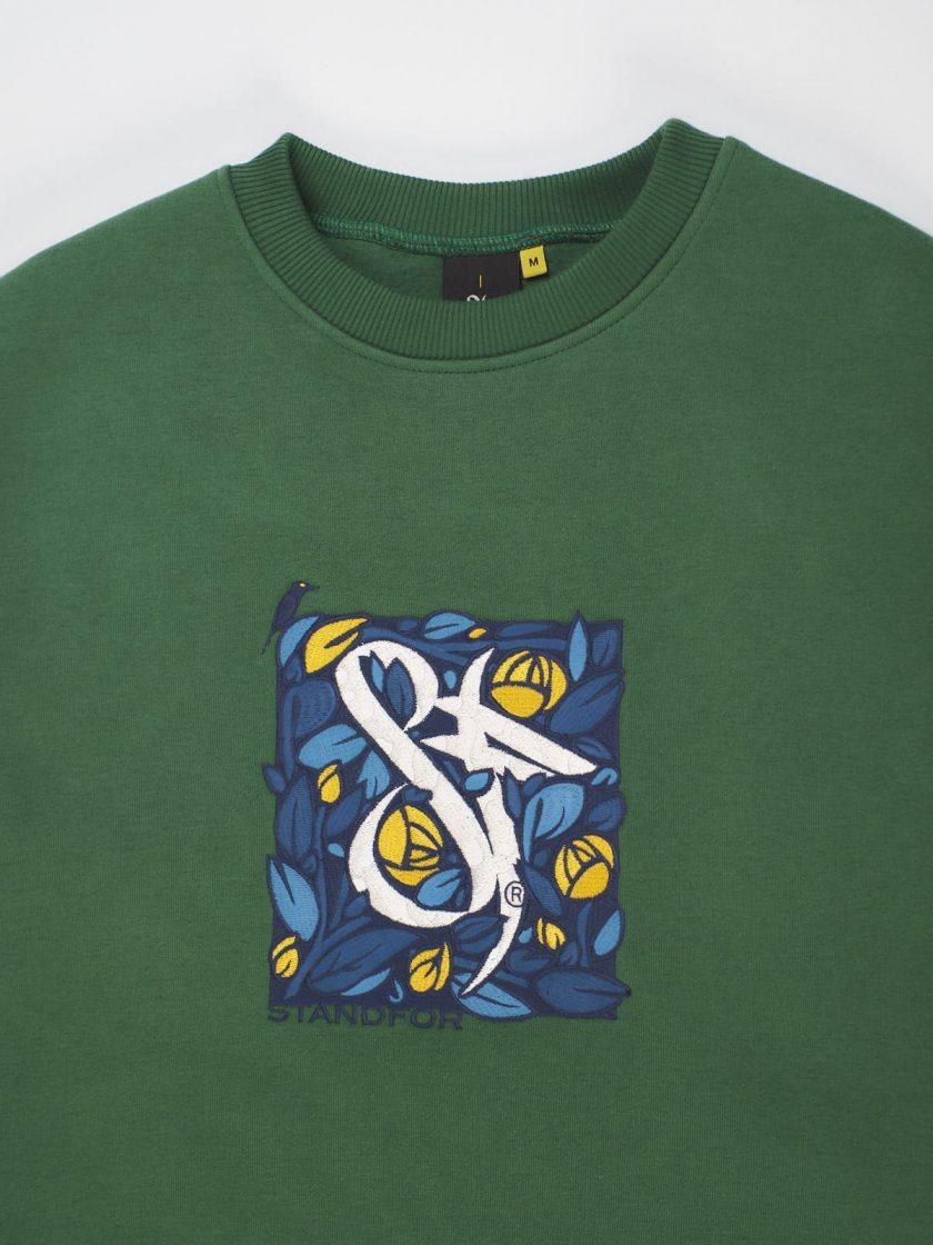 green florian sweatshirt details