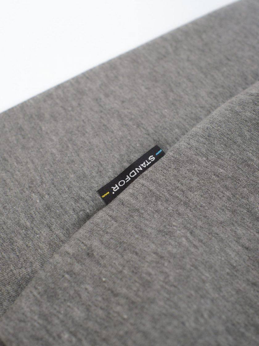 grey fabric detail